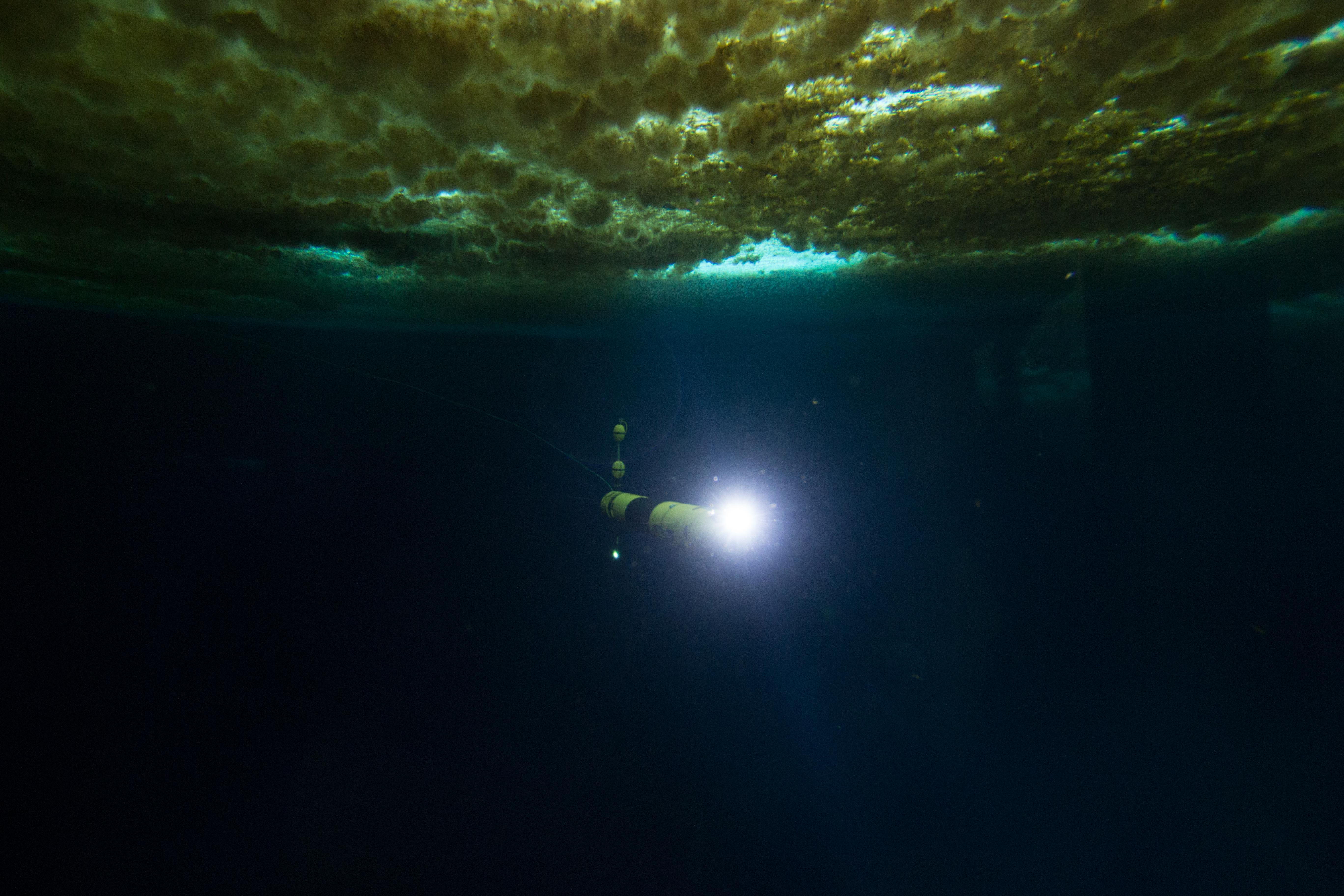 Icefin light on underwater